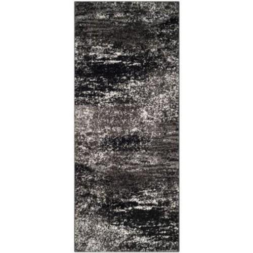 Safavieh Adirondack Silver/Black 2 ft. 6 in. x 6 ft. Runner