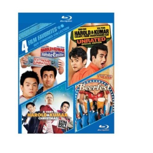 4 Film Favorites: Guy Comedies - Harold & Kumar Go To White Castle / Harold & Kumar Escape From Guantanamo Bay / A Very Harold & Kumar Christmas / Beerfest (Blu-ray) (Widescreen)