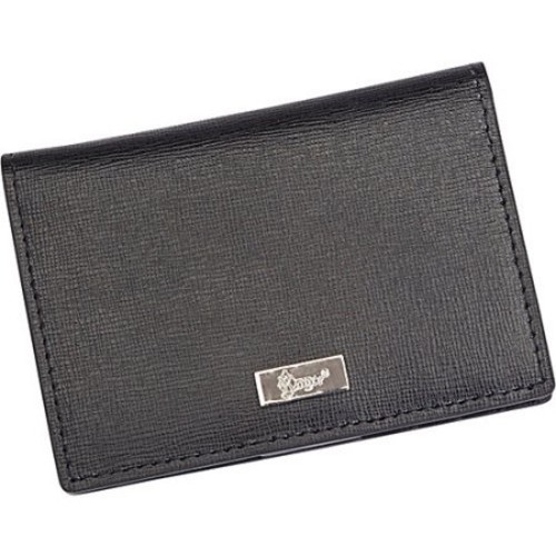 Royce RFID Blocking Saffiano Leather ID Card Case