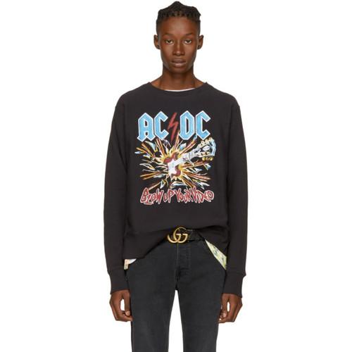 GUCCI Black Ac/Dc Logo Sweatshirt