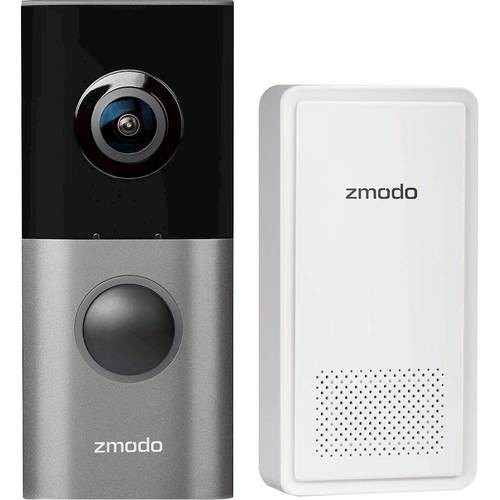 Zmodo - Greet Pro Wi-Fi Video Doorbell with Beam Wi-Fi Extender - Black