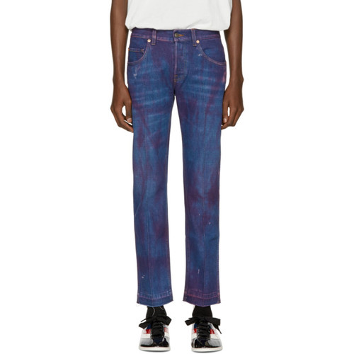 GUCCI Blue Stonewashed Tapered Jeans