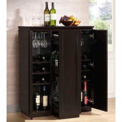 Baxton Studio Baltimore Bar Cabinet in Brown