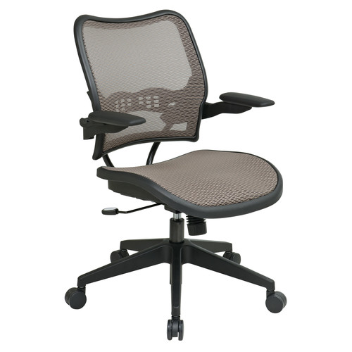 SPACE Seating Deluxe AirGrid Seat and Back, 2-to-1 Synchro Tilt Control and Cantilever Arms Managers Chair, Latte [Latte]