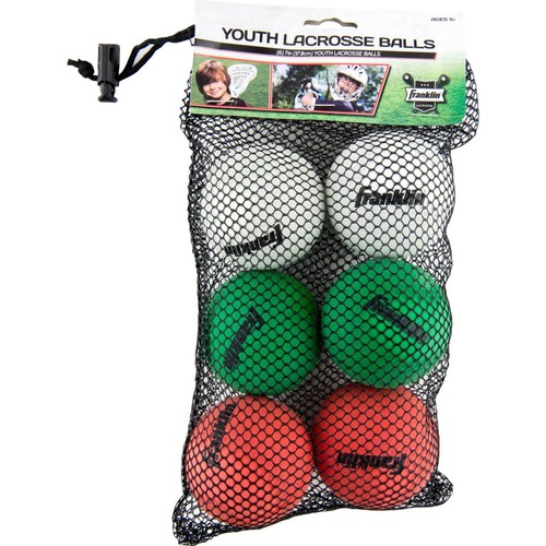 Franklin Sports Youth Lacrosse Balls-6 Pack