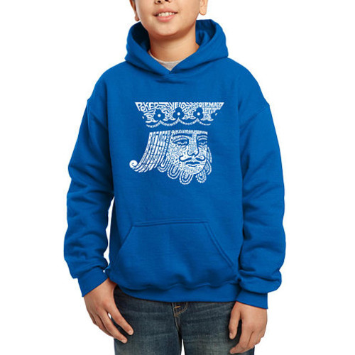 Los Angeles Pop Art Created Out Of Popular Card Games Boys Word Art Hoodie