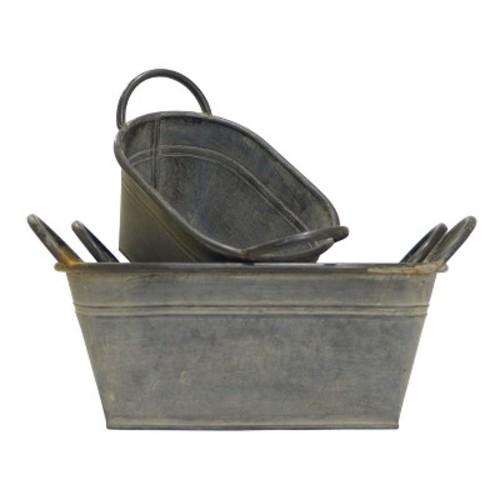 Metal Decorative Bucket Set 3pc - VIP Home & Garden
