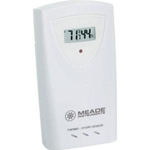 Meade Wireless Remote Temperature and Humidity 3-Channel Sensor with LCD Display