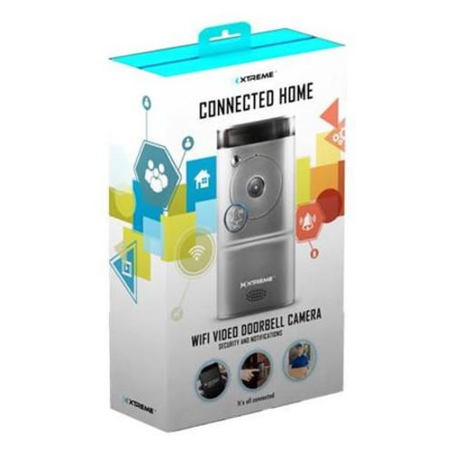 Xtreme Cables Wi-Fi Video Doorbell Camera, Silver