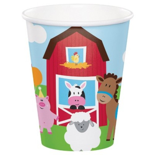 Party Creations Farmhouse Fun Hot/Cold Cups, 9 Oz, 8 Ct