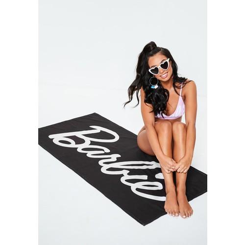 Barbie x Missguided Black Barbie Beach Towel