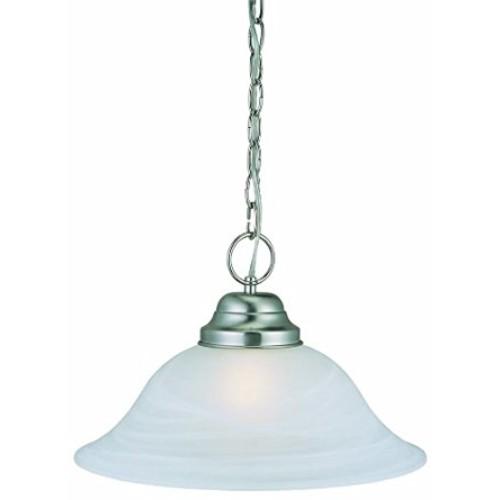 Design House 511626 Millbridge 1 Light Pendant, Satin Nickel