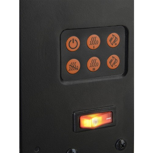 Flamelux High Wall Mount Electric Fireplace - Black