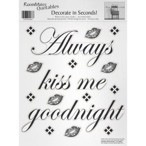 RoomMates Always Kiss Me Goodnight Peel & Stick Single Sheet