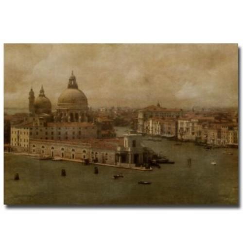 Trademark Fine Art Lois Bryan 'Vintage Venice' Canvas Art 24x32 Inches, LBr0101-C2432GG