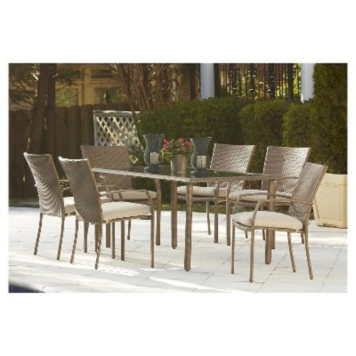 Lakewood Ranch 7 PC Steel Fully Woven Dining Set