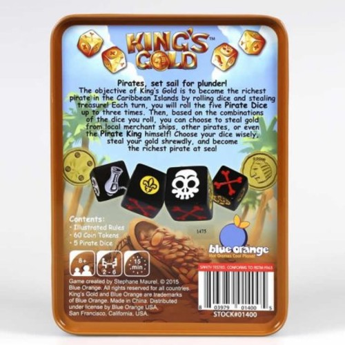 King's Gold - Family Game by Blue Orange Games (01400)