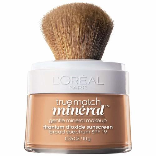 L'Oral Paris True Match Loose Powder Mineral Foundation, Natural Beige, 0.35 oz. [Natural Beige, 1 Count]