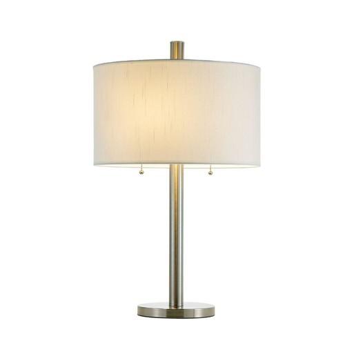 Adesso Boulevard 28 in. Satin Steel Table Lamp