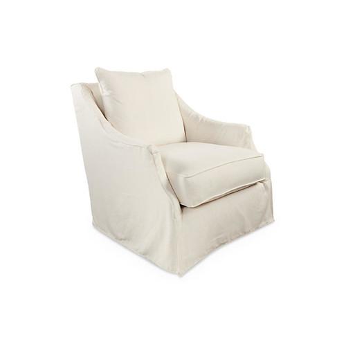 Kate Club Chair, Cream Linen