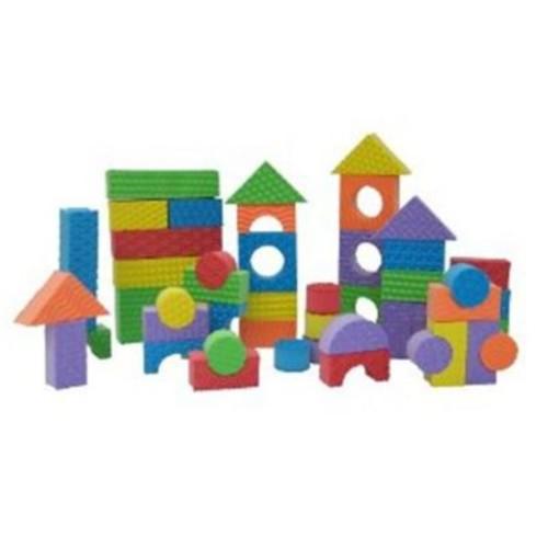 Edushape Textured Blocks - Set Of 80 (Edus418)