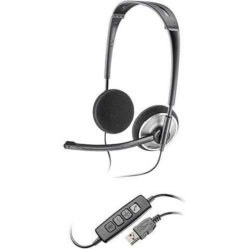 Plantronics PLNAUDIO478 Stereo USB Headset fOR PC [Black,Chrome, Standard Packaging]