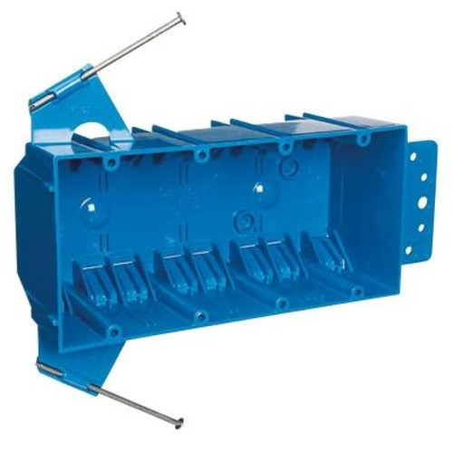 4-Gang 55 cu. in. Zip Box with Non-Metallic Switch and Outlet Box - Blue (Case of 14)