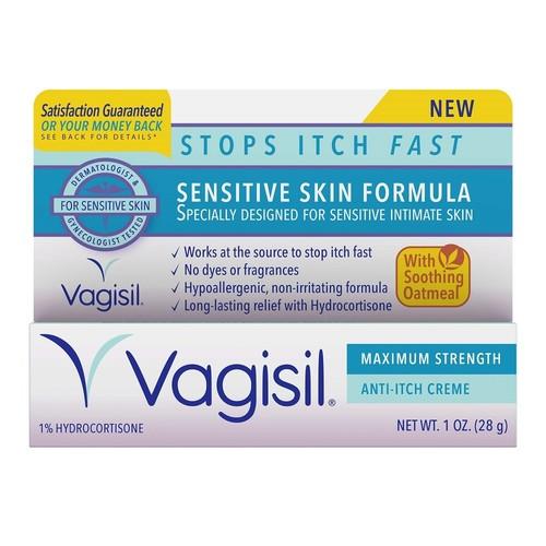 Vagisil Sensitive Skin Formula Maximum Strength Anti-Itch Creme with Oatmeal, 1 Oz, 1 Count
