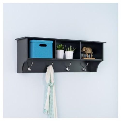 Entryway Cubbie Shelf Black - Prepac