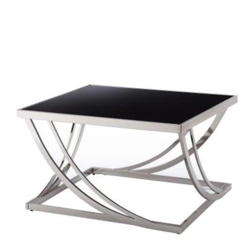 HomeSullivan Melrose Black and Chrome Coffee Table