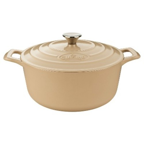 La Cuisine LC 5285MB PRO Round 6.5 Qt. Cast Iron Casserole - Cream