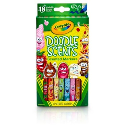 Crayola Doodle Scents Markers, 18 colors/scents (BIN585070)