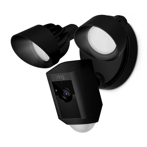 Ring Outdoor Wi-Fi Cam with Motion Activated Floodlight, Black