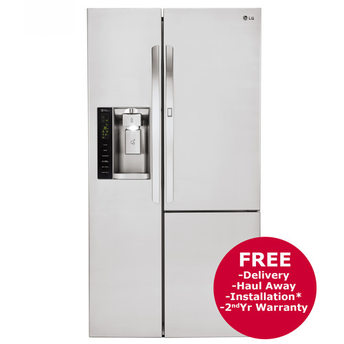 LG 26-Cu.-Ft. Side-By-Side Door-in-Door Refrigerator with Ice and Water Dispenser - Stainless Steel