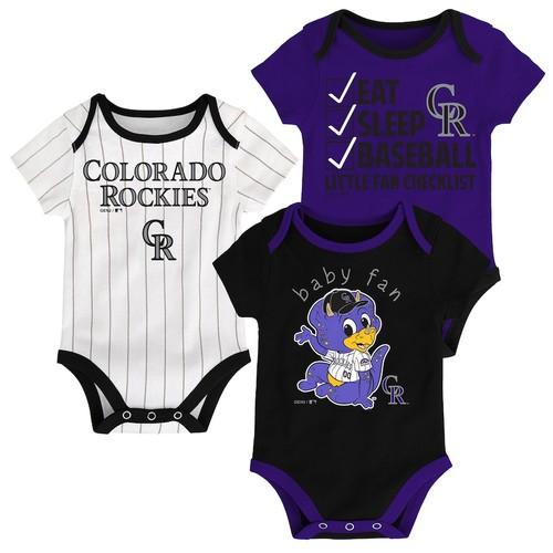 Baby Colorado Rockies 3-pk. Bodysuits