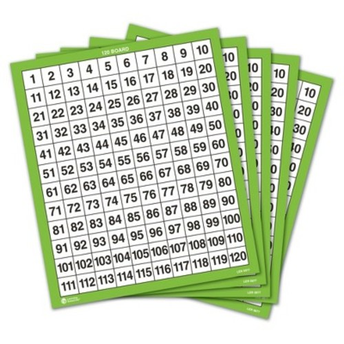 Learning Resources Laminated 120 Boards - 10 Piece