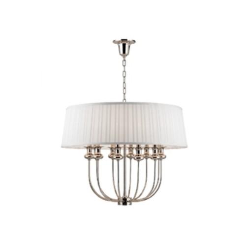 Hudson Valley Lighting Pembroke 8-light Pendant, Polished Nickel
