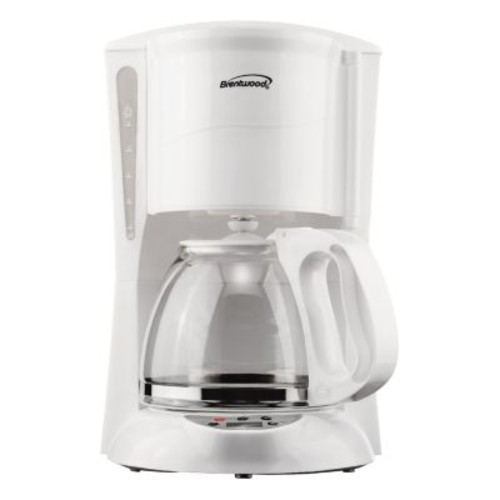 Brentwood Appliances TS-218W 12-Cup Digital Coffee Maker, White