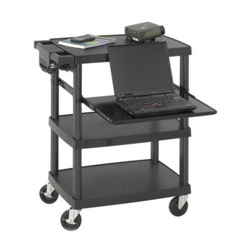 Multi-Media Projector Cart in Black Finish