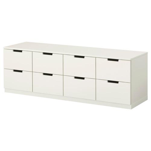 NORDLI 8-drawer dresser, white