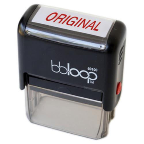 Rectangular Red 'Scanned' Stamp
