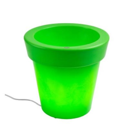 Filament Design Twist Production 20 in. Apple Green Outdoor Lighted Planter