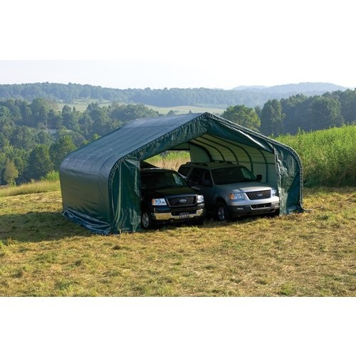 ShelterLogic 22'x24'x12' Peak Style Shelter in Green [Green, 22 x 24]