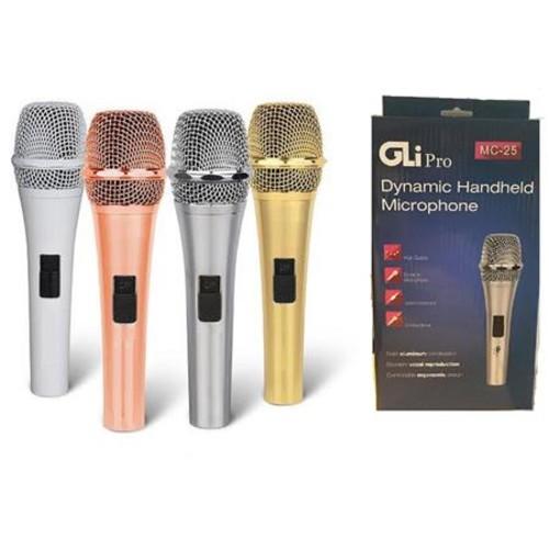 GLI Pro MC-25 Heavy Duty Dynamic Handheld Unidirectional Microphone, White MC-25WHITE
