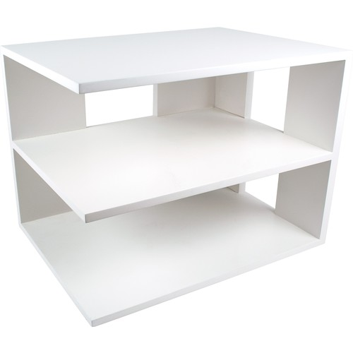 Victor Wood Pure White Collection Corner Shelf, W1120