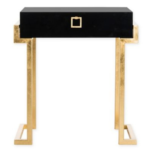 Safavieh Couture Abele Lacquer Side Table in Black