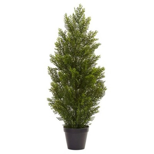Nearly Natural 3 ft. Indoor/Outdoor Mini Cedar Pine Tree