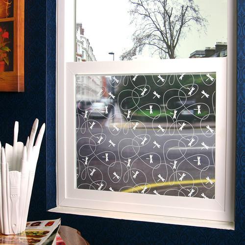 Dragonflies Sheer Window Film