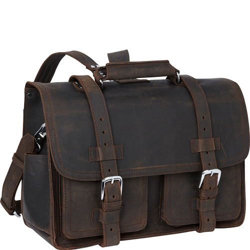 Vagabond Traveler Leather Briefcase Travel Bag