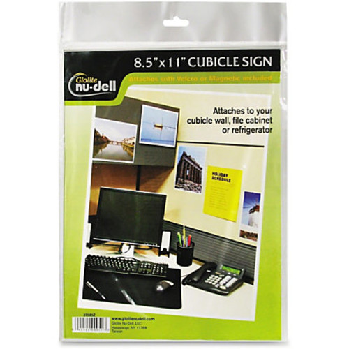 Nu-Dell Cubicle Sign Holder - 1 Each - 8.5